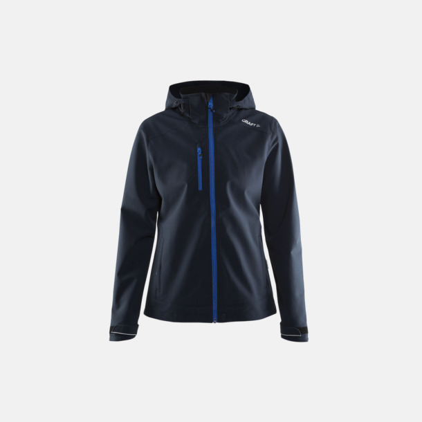 Dark Navy (dam) Softshell jackor från Craft med eget reklamtryck