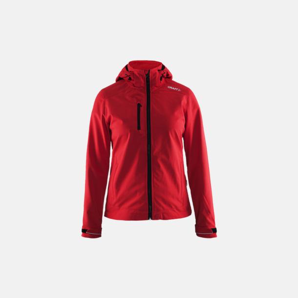 Bright Red (dam) Softshell jackor från Craft med eget reklamtryck