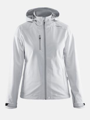 Vit (dam) Softshell jackor från Craft med eget reklamtryck