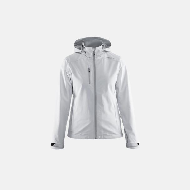 White/Platinum (dam) Softshell jackor från Craft med eget reklamtryck