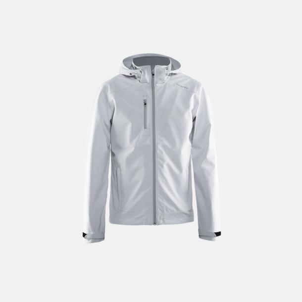 White/Platinum (herr) Softshell jackor från Craft med eget reklamtryck