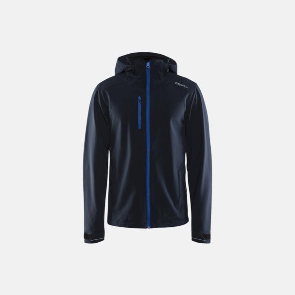 Dark Navy (herr) Softshell jackor från Craft med eget reklamtryck