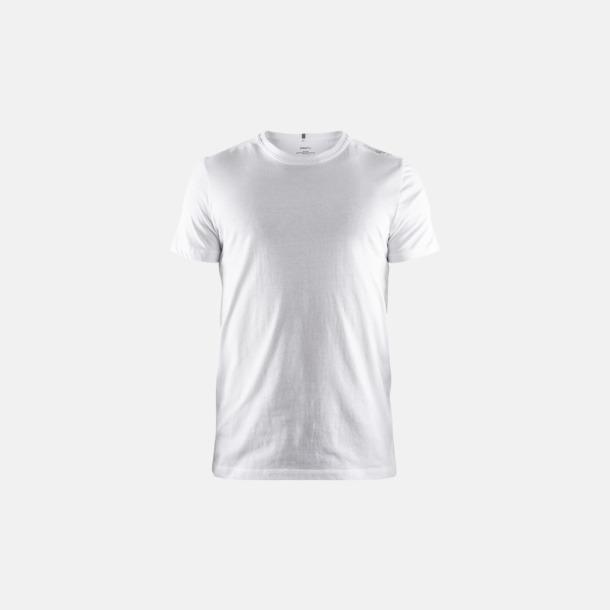 Vit (herr) Funktionell t-shirt från Craft med eget reklamtryck