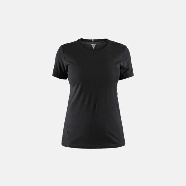 Svart (dam) Funktionell t-shirt från Craft med eget reklamtryck