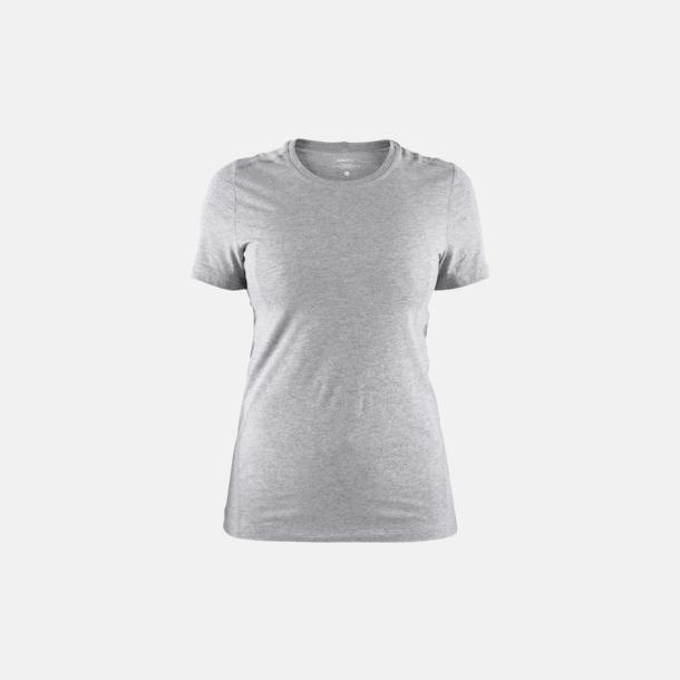 Grey Melange (dam) Funktionell t-shirt från Craft med eget reklamtryck