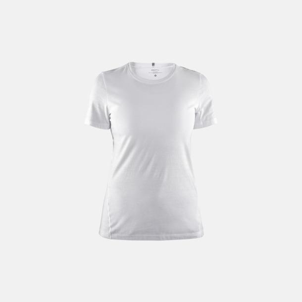 Vit (dam) Funktionell t-shirt från Craft med eget reklamtryck