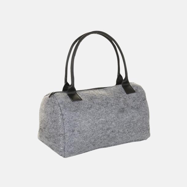 Grey Melange Sportväskor i filt med reklamlogo