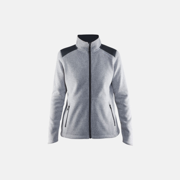 Grey Melange/Asphalt (dam) Stickade fleece jackor från Craft med eget reklamtryck