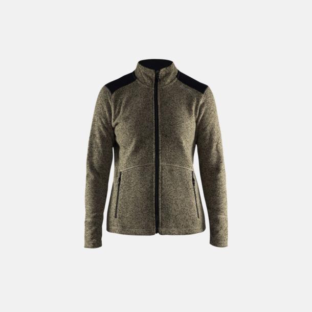 Dark Forrest/Svart (dam) Stickade fleece jackor från Craft med eget reklamtryck