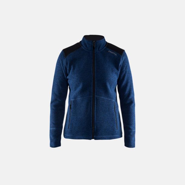 Deep/Svart (dam) Stickade fleece jackor från Craft med eget reklamtryck