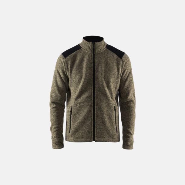 Dark Forrest/Svart (herr) Stickade fleece jackor från Craft med eget reklamtryck