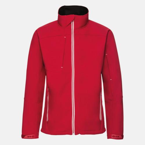 Classic Red (herr) Softshell-jackor med eko finish med reklamtryck