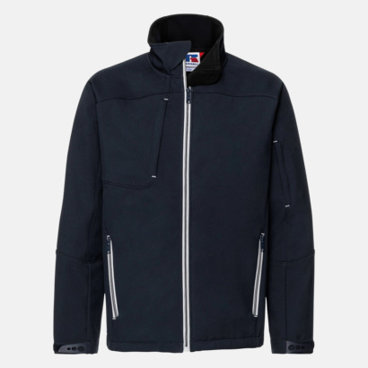 French Navy (herr) Softshell-jackor med eko finish med reklamtryck