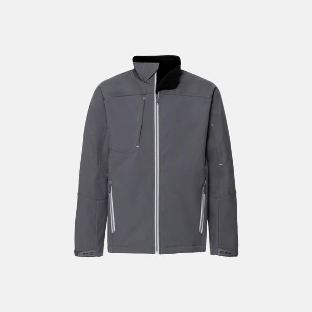Iron Grey (herr) Softshell-jackor med eko finish med reklamtryck