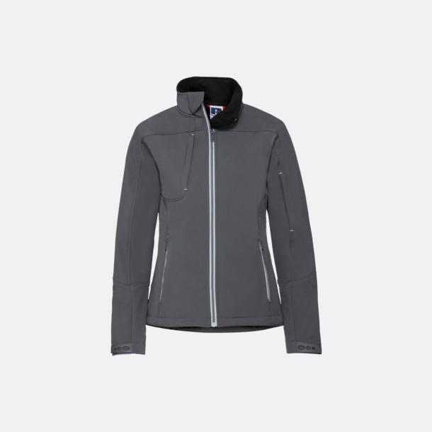 Iron Grey (dam) Softshell-jackor med eko finish med reklamtryck