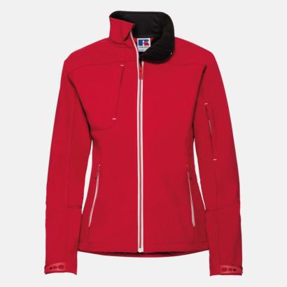 Classic Red (dam) Softshell-jackor med eko finish med reklamtryck