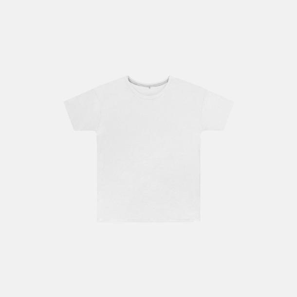 Vit (barn) Labelfria t-shirts med reklamtryck