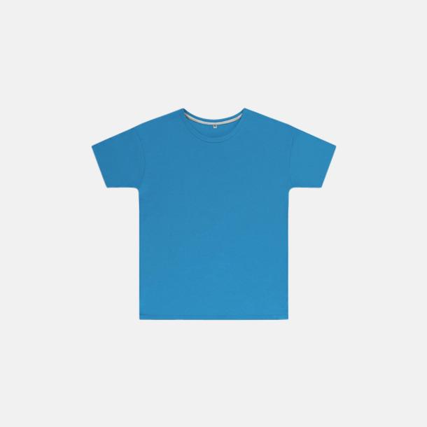 Turkos (barn) Labelfria t-shirts med reklamtryck