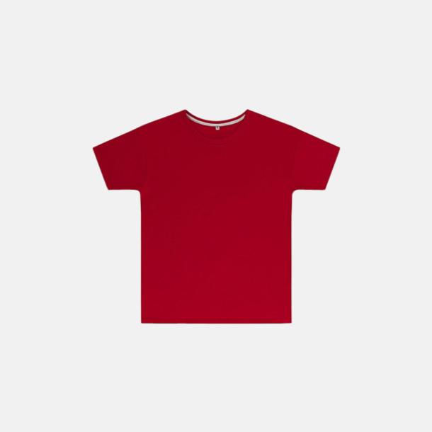 Röd (barn) Labelfria t-shirts med reklamtryck