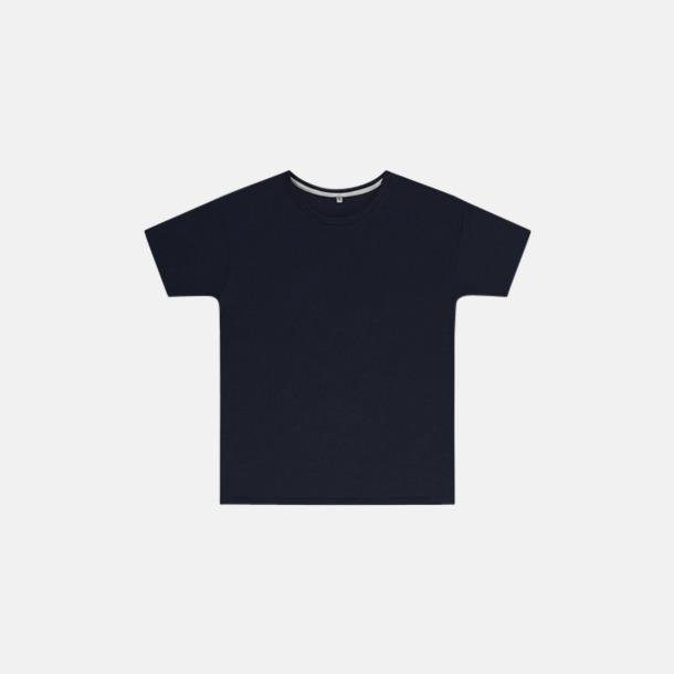 Marinblå (barn) Labelfria t-shirts med reklamtryck