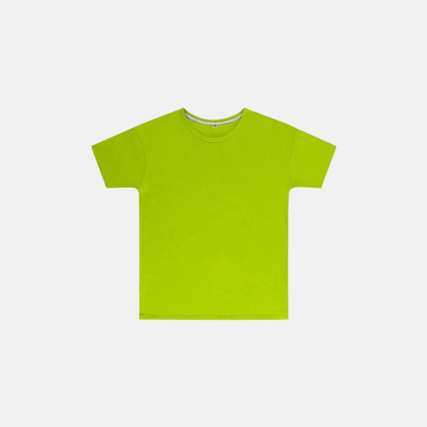 Lime (barn) Labelfria t-shirts med reklamtryck
