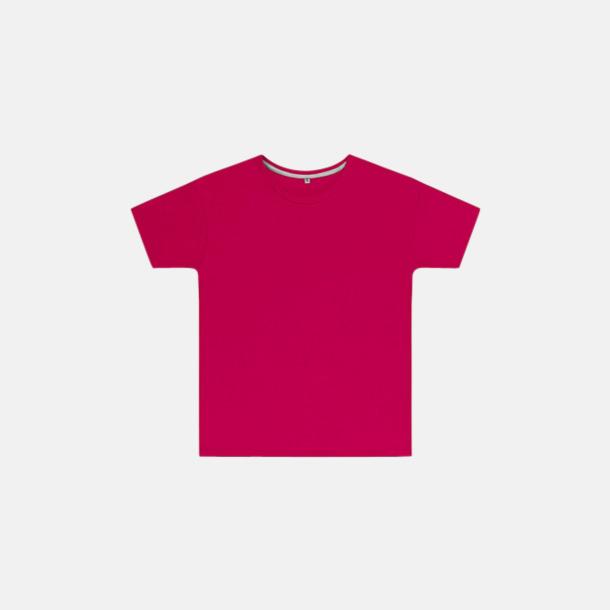 Mörkrosa (barn) Labelfria t-shirts med reklamtryck