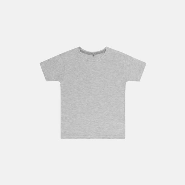 Ash Grey (barn) Labelfria t-shirts med reklamtryck