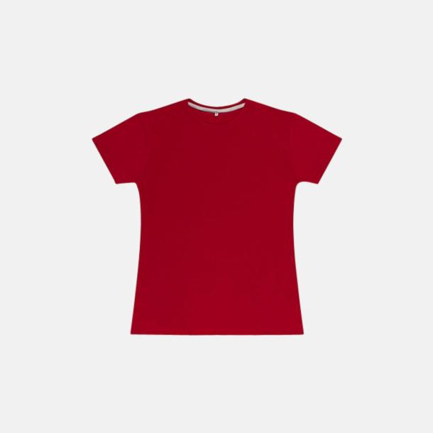 Röd (dam) Labelfria t-shirts med reklamtryck