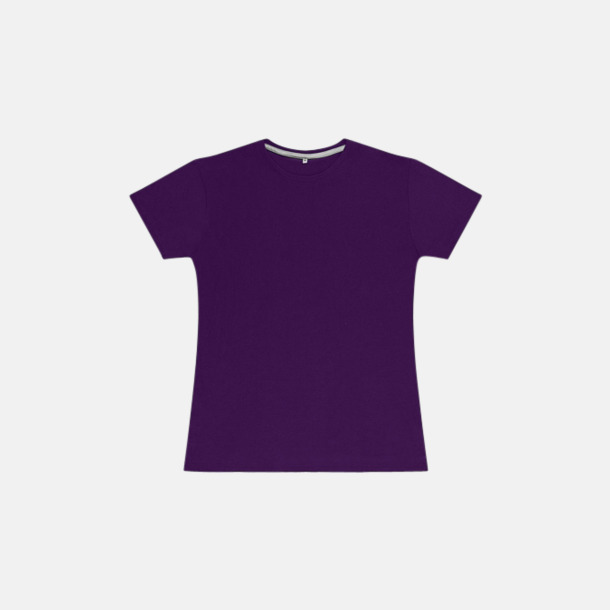 Lila (dam) Labelfria t-shirts med reklamtryck