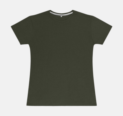 Military Green (dam) Labelfria t-shirts med reklamtryck