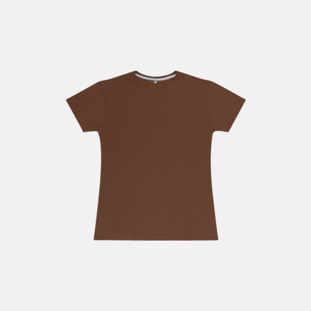 Deep Taupe (dam) Labelfria t-shirts med reklamtryck