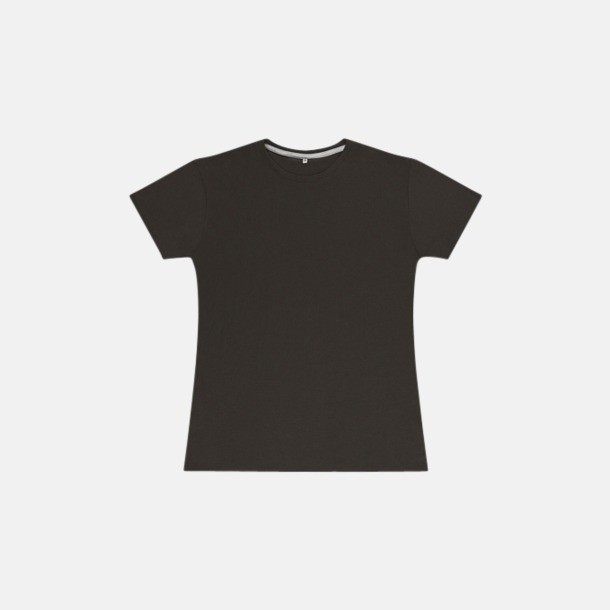 Charcoal (dam) Labelfria t-shirts med reklamtryck