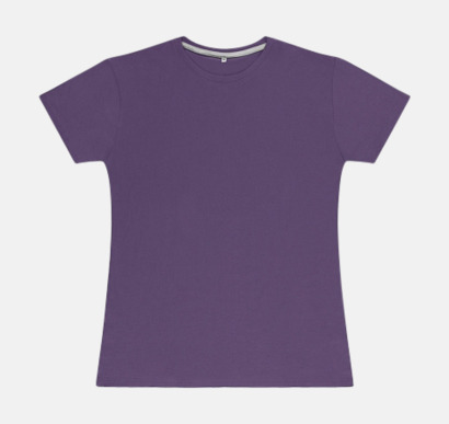 Aster Purple (dam) Labelfria t-shirts med reklamtryck