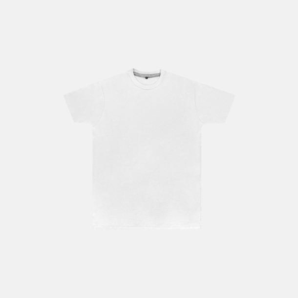Vit (herr) Labelfria t-shirts med reklamtryck