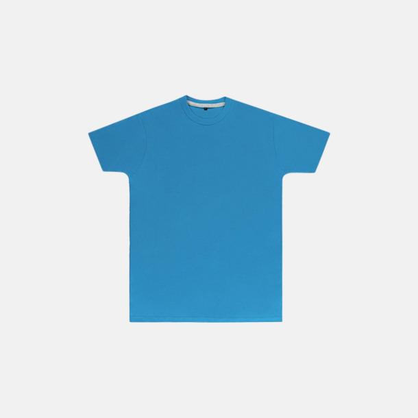 Turkos (herr) Labelfria t-shirts med reklamtryck