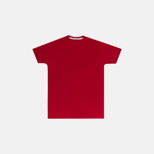 Röd (herr) Labelfria t-shirts med reklamtryck