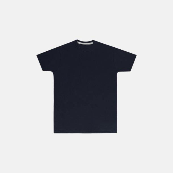 Marinblå (herr) Labelfria t-shirts med reklamtryck