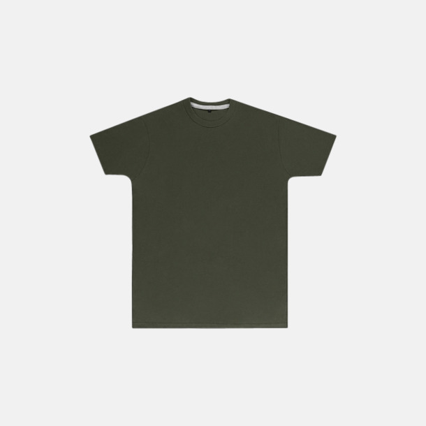 Military Green (herr) Labelfria t-shirts med reklamtryck