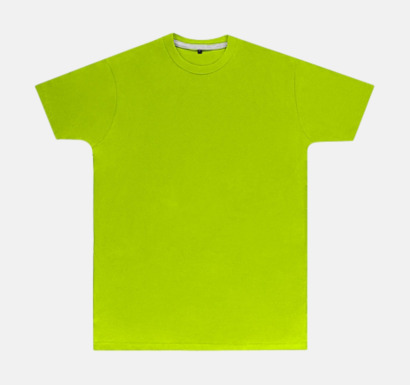 Lime (herr) Labelfria t-shirts med reklamtryck