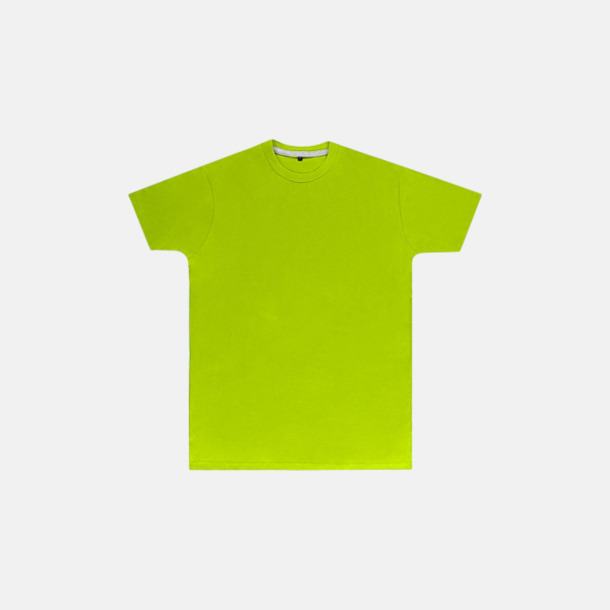 Lime (herr) Labelfria t-shirts med reklamtryck