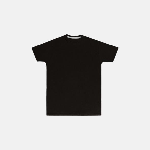 Dark Black (herr) Labelfria t-shirts med reklamtryck