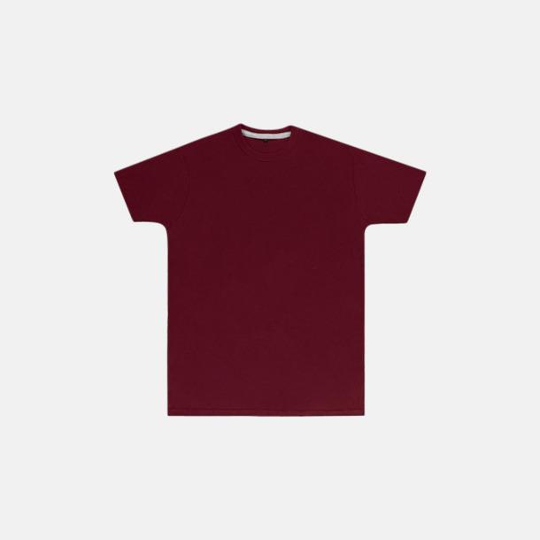 Burgundy (herr) Labelfria t-shirts med reklamtryck