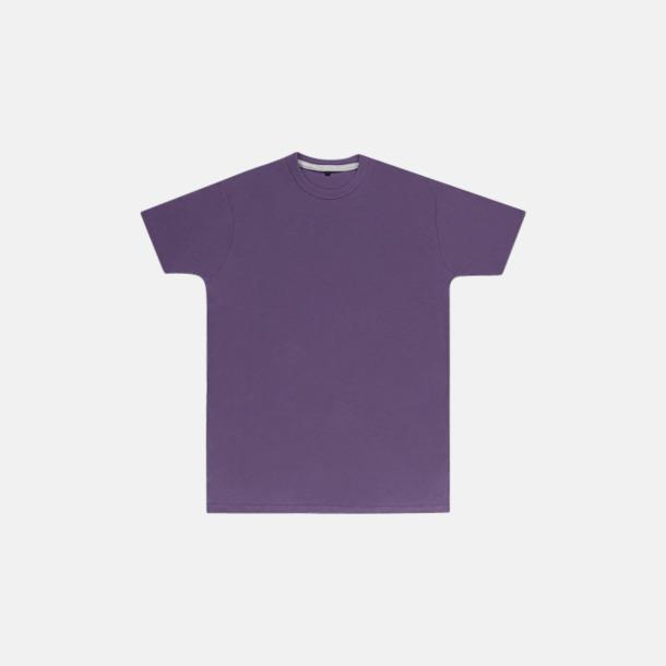 Aster Purple (herr) Labelfria t-shirts med reklamtryck