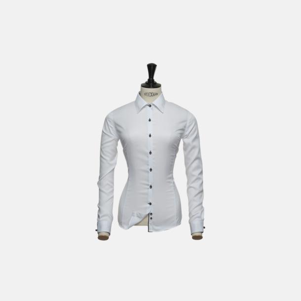 Svart/Vit (dam) Exklusiva skjortor i klassisk design med reklamtryck