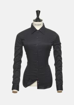Svart/Röd (dam) Exklusiva skjortor i klassisk design med reklamtryck