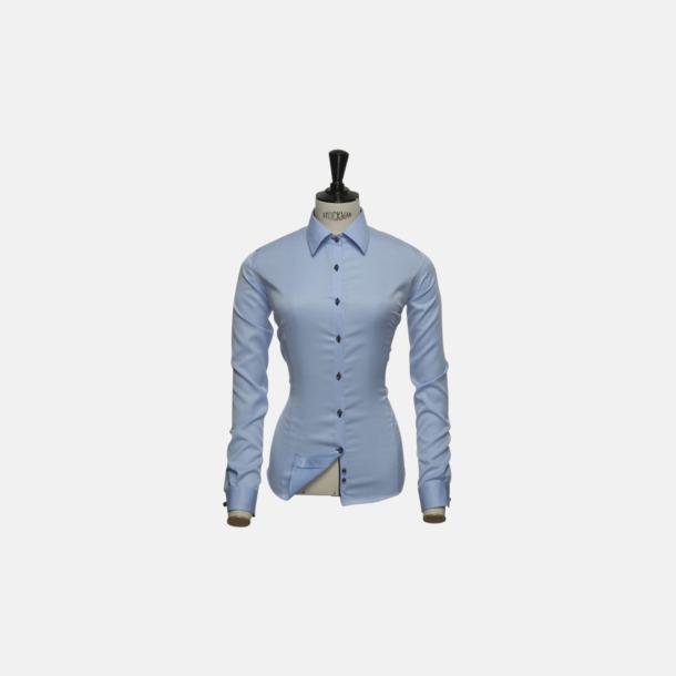 Sky Blue (dam) Exklusiva skjortor i klassisk design med reklamtryck