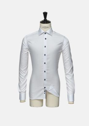 Vit (herr) Exklusiva skjortor i klassisk design med reklamtryck