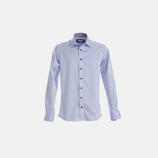 Sky Blue/Lila (herr) Exklusiva skjortor i klassisk design med reklamtryck