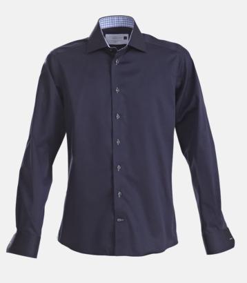 Marinblå/Sky Blue (herr) Exklusiva skjortor i klassisk design med reklamtryck
