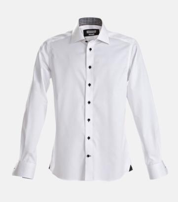 Svart/Vit (herr) Exklusiva skjortor i klassisk design med reklamtryck